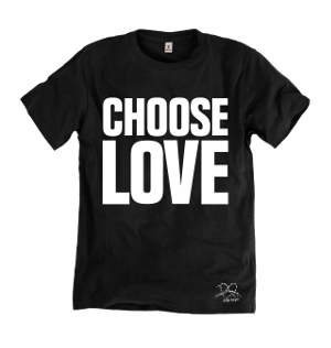 Choose Love black t-shirt