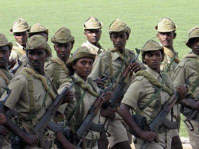 Eritrea women soldiers