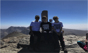 Innes family, after climbing the second peak of their community fundraising challenge