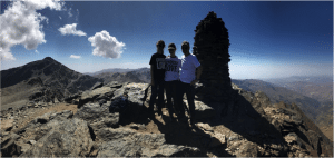 Innes family having climbed the first peak of their community fundraising challenge