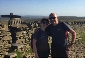 Innes family training for their community fundraising challenge