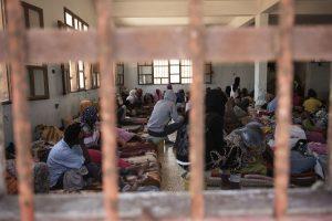 Women refugees held in detention in Libya