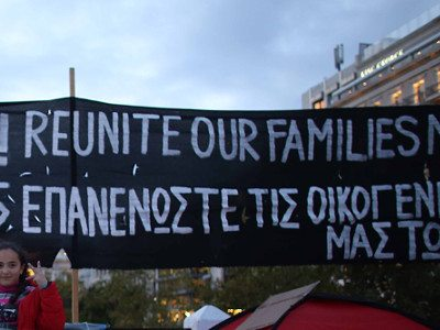 Refugees call for family reunification, Athens