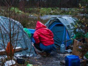 Living conditions at the border in Calais