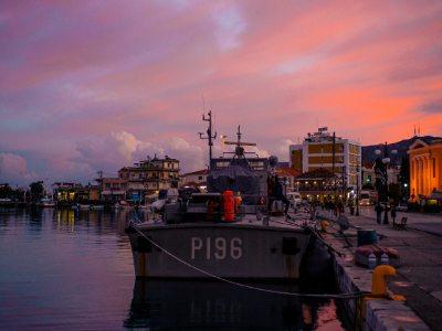 Sunset over Lesvos, Matthew K. Firpo