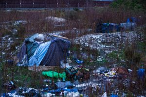 The reality of accommodation in Calais, Winter 2017-18. Photo: Futuro Berg.