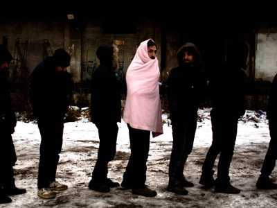 Serbia refugee camp barracks Alice Aedy small