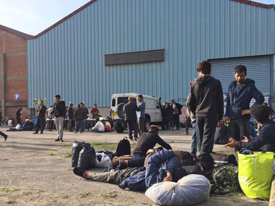 Dunkirk refugees in Warehouse