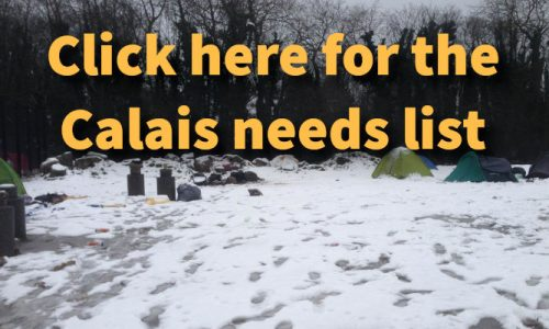 Calais Needs List - donate items for Calais refugees