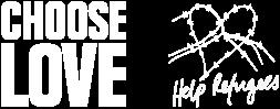 Help Refugees x Choose Love logo