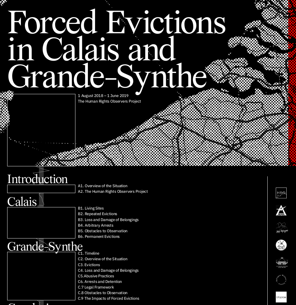 Forced Evictions in Calais & Grand-Synthe report