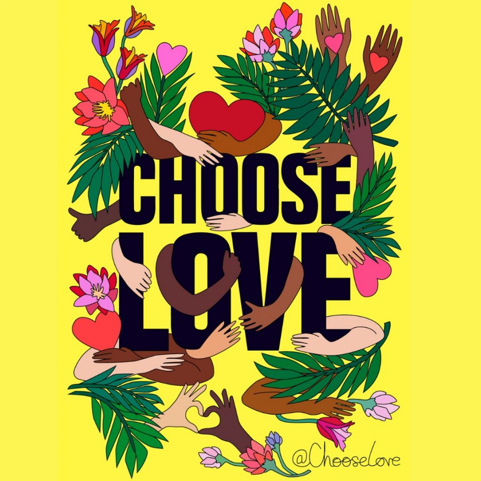 Choose Love Drawing Colour