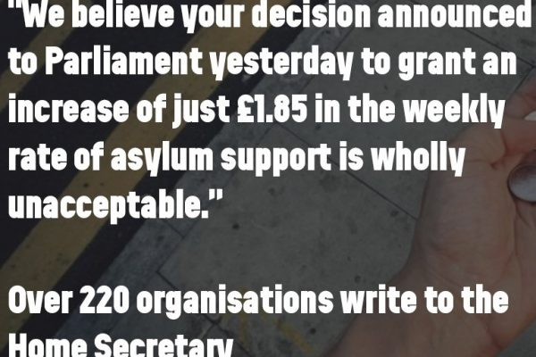 Increase asylum support rates