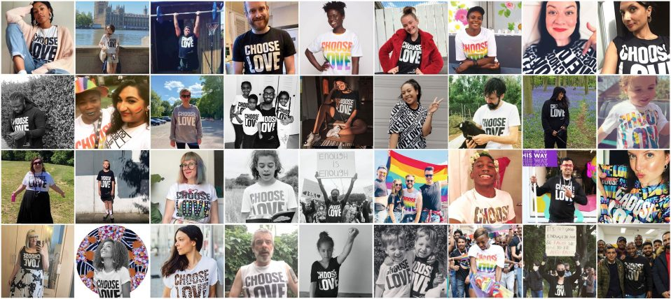 Choose Love collage