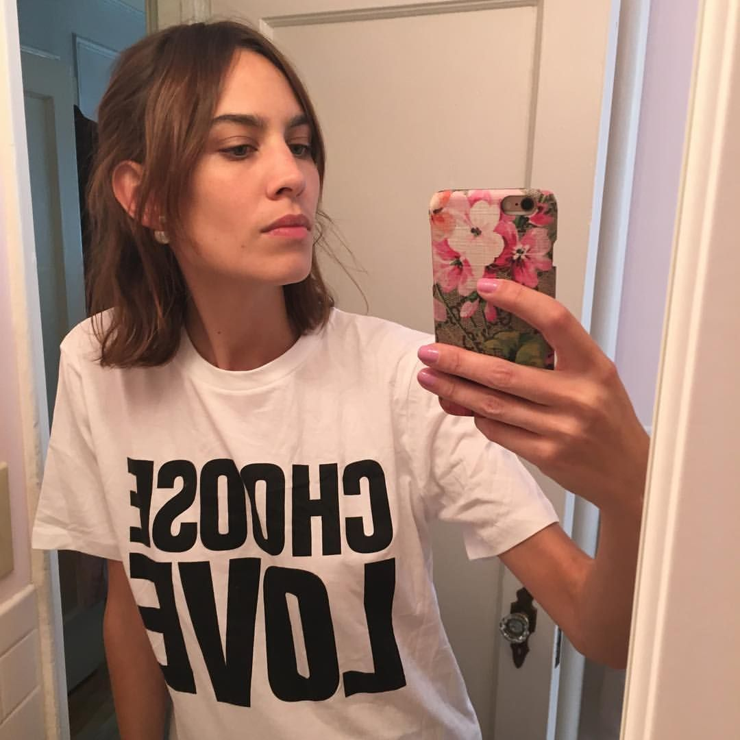 Alexa Chung wears Choose Love