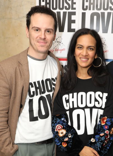 Andrew Scott and Anoushka Shankar wear Choose Love