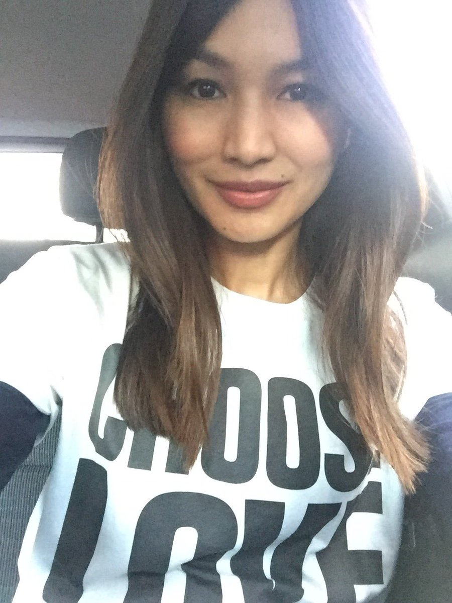 Gemma Chan wears Choose Love