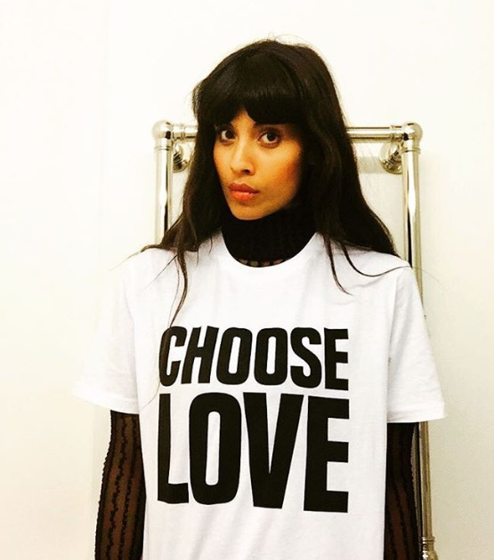 Jameela Jamil wears Choose Love