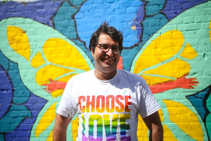 Majid Adin wears Pride Choose Love