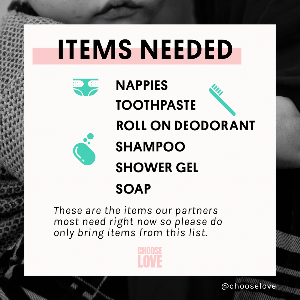 Items needed