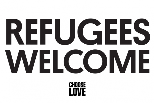 Refugees welcome poster