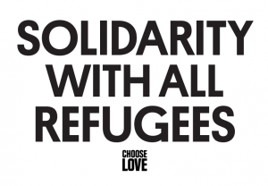 Solidarity with all refugees poster
