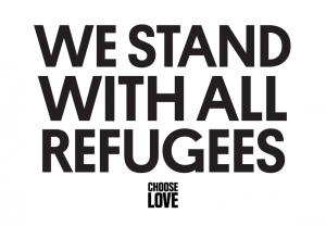 We stand with all refugees post