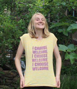 choose love t shirt stencil