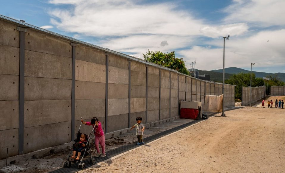 Image of the wall built by the Greek Government